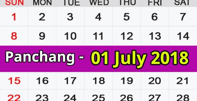 Panchang 01 July 2018