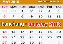 Panchang 04 May 2018