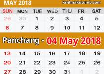 Panchang 04 May 2018