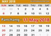Panchang 11 May 2018