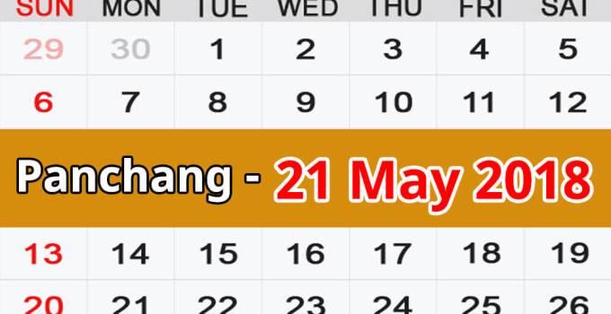 Panchang 21 May 2018