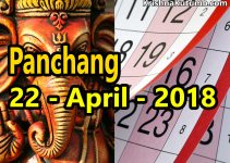 Panchang 22 April 2018