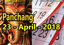 Panchang 23 April 2018