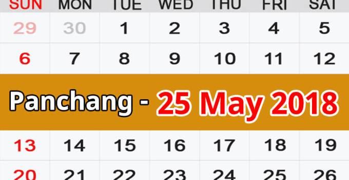 Panchang 25 May 2018