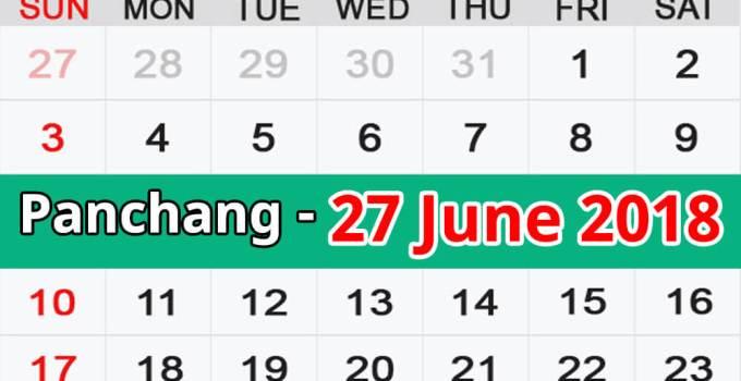 Panchang 27 June 2018