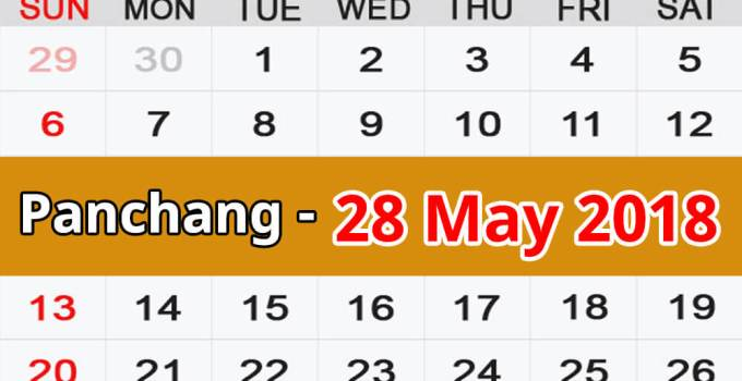 Panchang 28 May 2018
