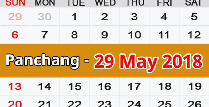 Panchang 29 May 2018