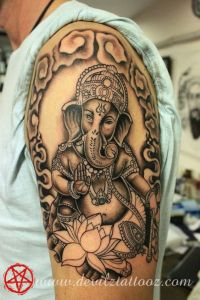Beautiful Ganesha Tattoo