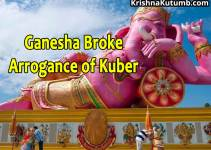 Ganesha broke arrogance of kuber - Krishna Kutumb