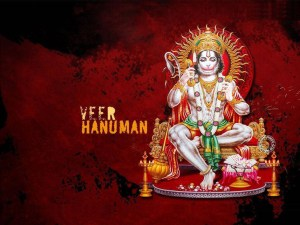 Hanuman Ji Images hd - Veer Hanuman with red and black background - Krishna Kutumb