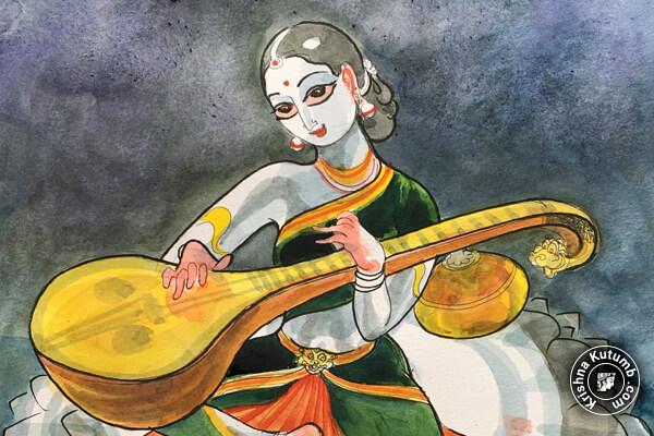 Top 10 Maa Saraswati Images Trending in 2018 - Image number 2 - Krishna Kutumb