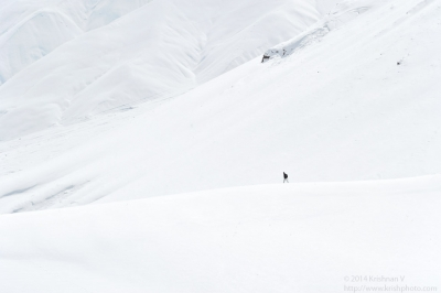 The snowscape with Lamji
