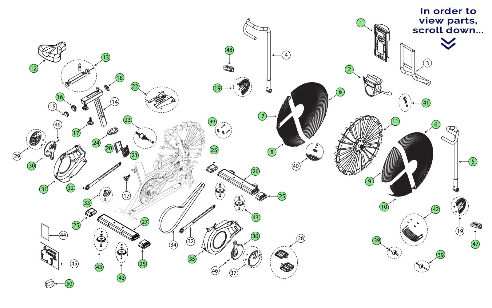 Schwinn Airdyne Pro Repair Parts