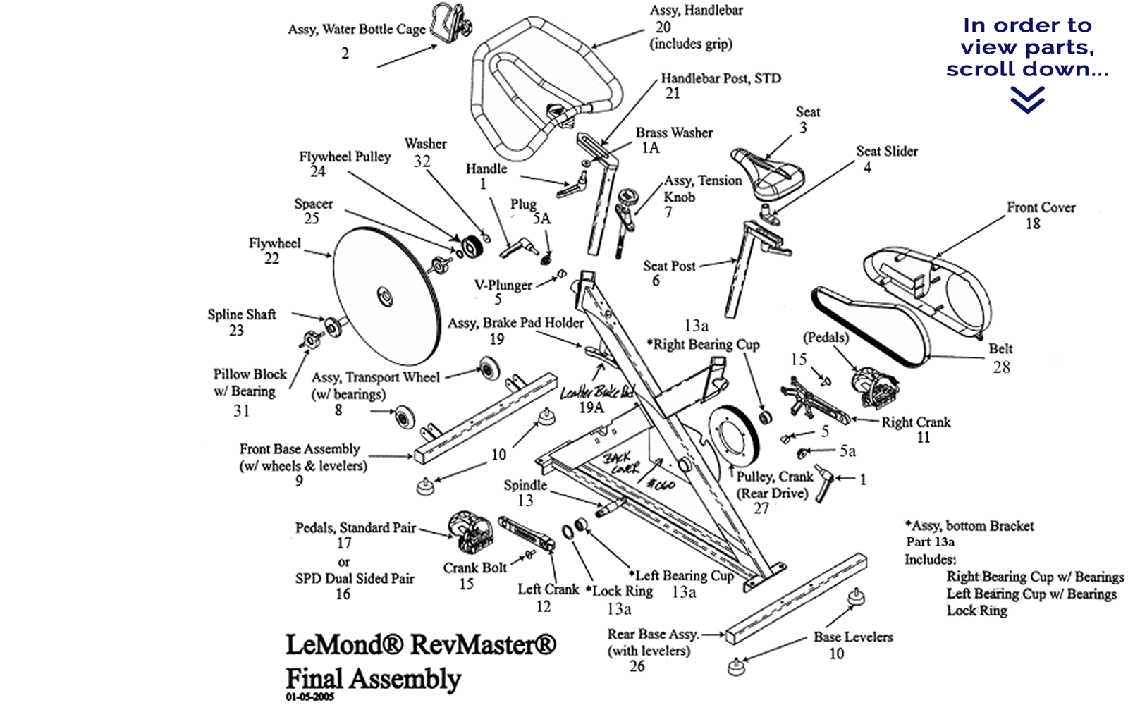 Recumbent Bike Diagram