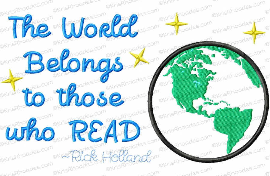 The World Belongs To Those Who Read Americas Applique