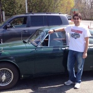 Eric on a test drive in May 2014