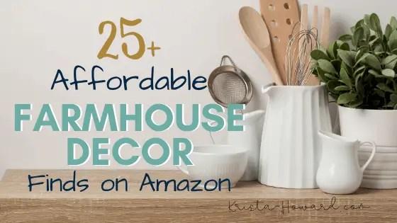 Affordable Farmhouse Decor Finds on Amazon