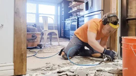 DIY Removing Tile Floor