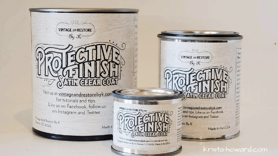 DIY Chalk Painting Furniture - Protective Finish
