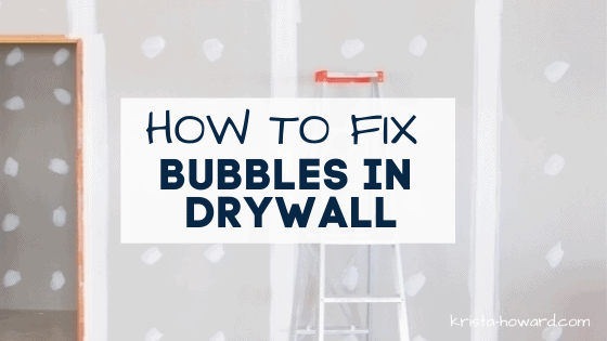 Bubbles in Drywall