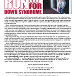 Run Up For Down Syndrome: This SUNDAY!