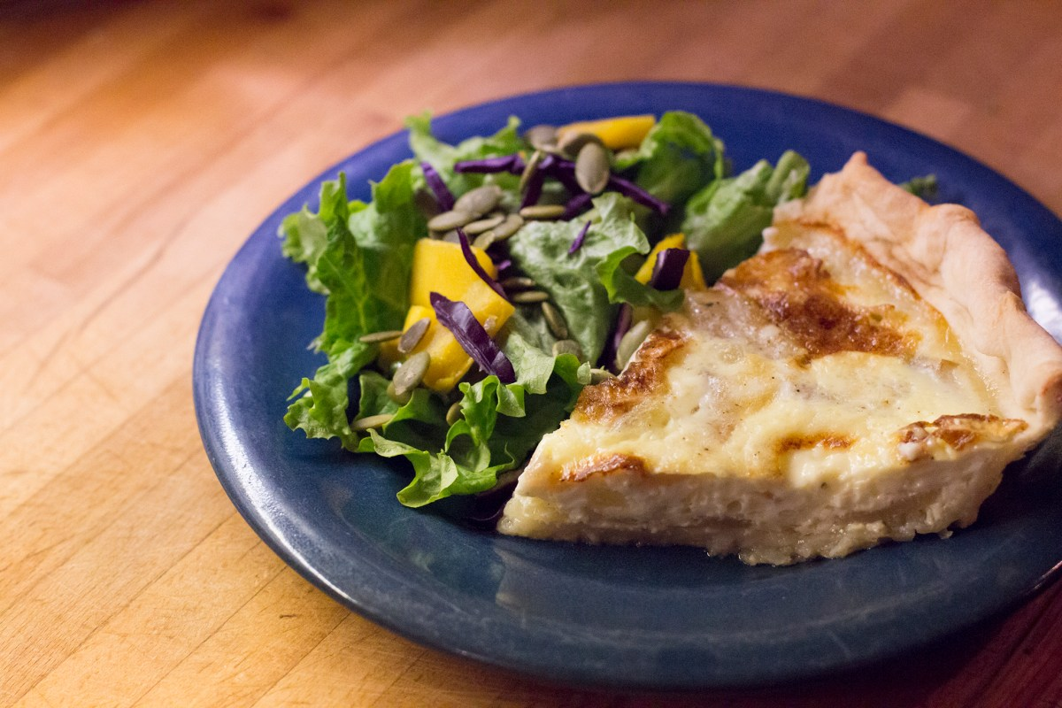 Pear and Brie Quiche