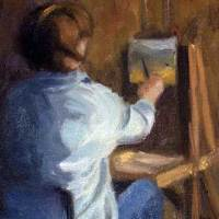 artist plein air small daily oil painting
