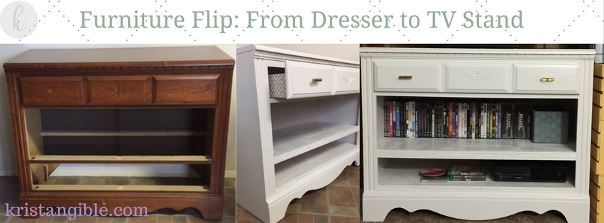 Check out how I turned an old dresser into a like-new TV stand!