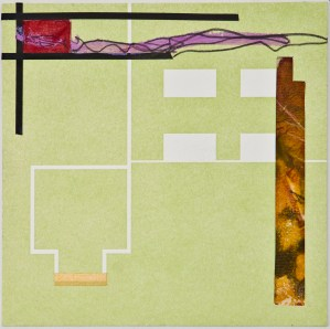 Map 21 - Letterpress and Mixed Media - 6x6 - 2013