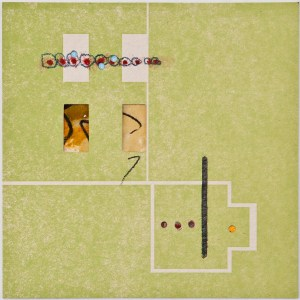 Map 30 - Letterpress and Mixed Media - 6x6 - 2013