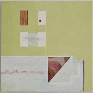 Map 10 - Letterpress and Mixed Media - 6x6 - 2013