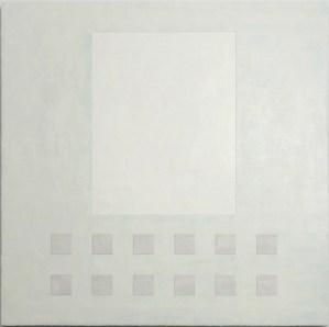 Krista Svalbonas - Transparency 2 - Wax and Pastel on Doorskin - 36x36 - 2012