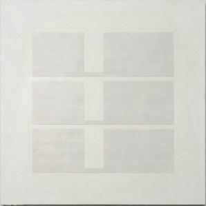 Krista Svalbonas - Transparency 3 - Wax and Pastel on Doorskin - 36x36 - 2012