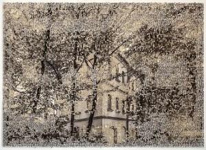 Regensberg, laser cut pigment print, 14x21, 2020