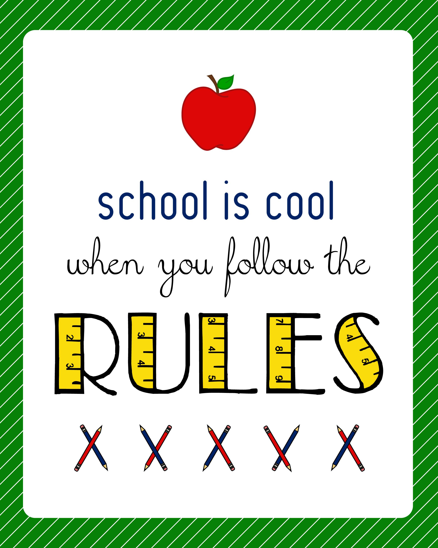 Back To School Classroom Sign Printable