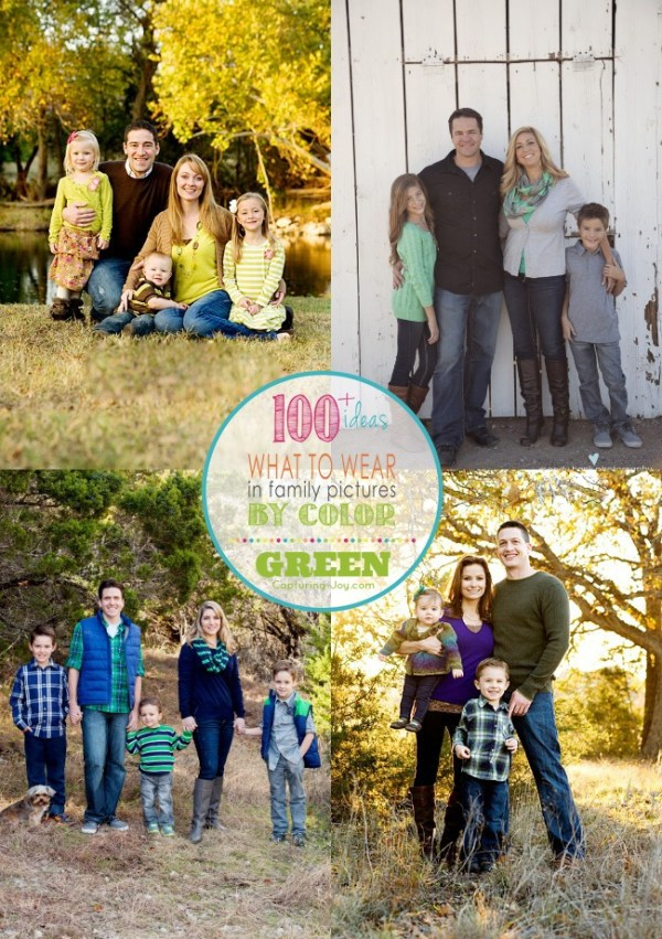 Family Picture Clothes by Color Series-Greens - Capturing ...