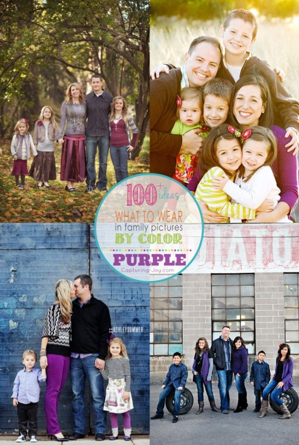 Family Picture Clothes by Color Series-Purple - Capturing ...
