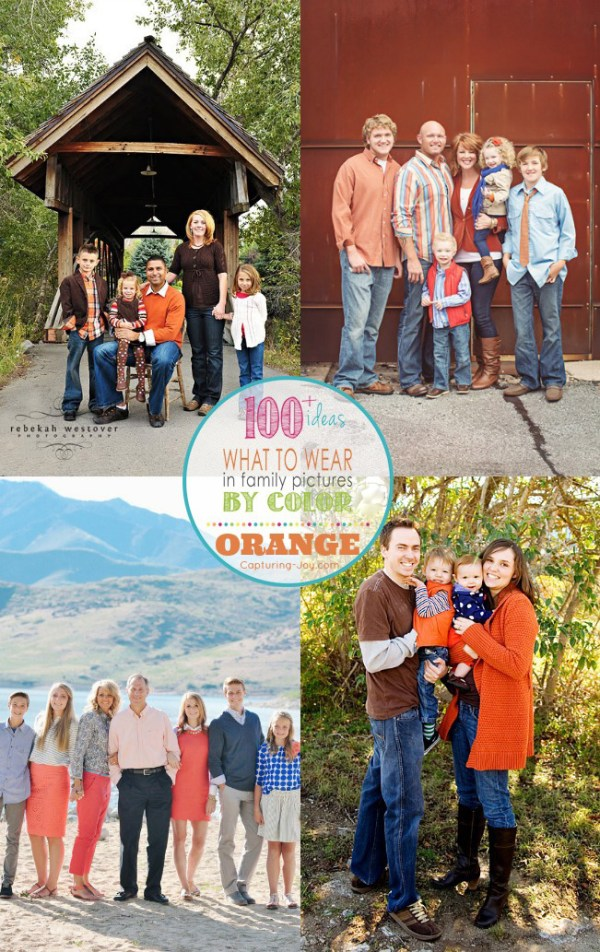Family Picture Clothes by Color Series-Orange - Capturing ...