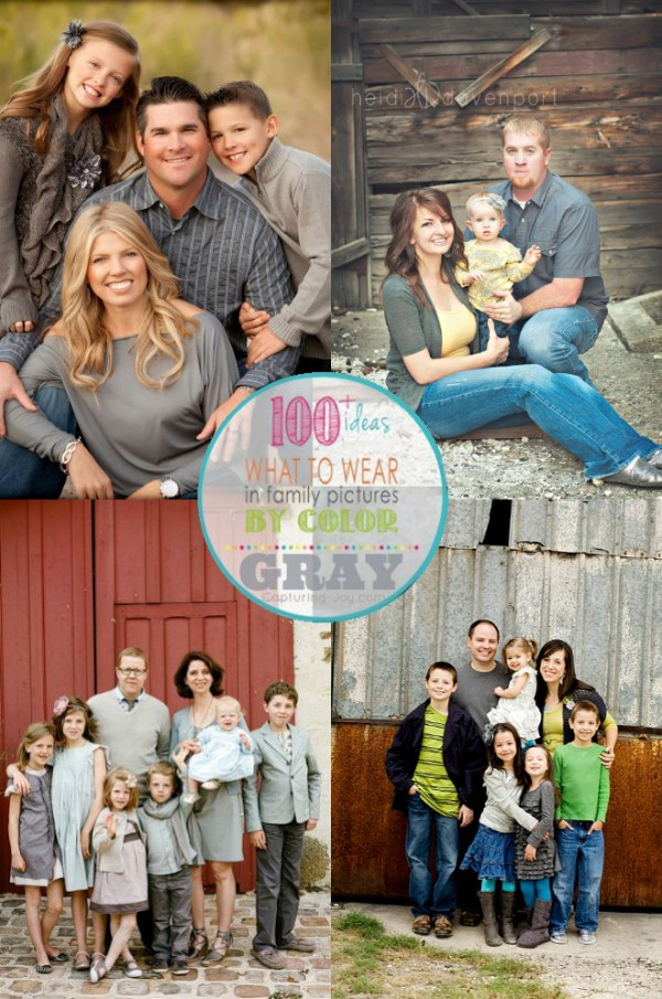 Family Picture Clothes by Color-Gray - Capturing Joy with ...