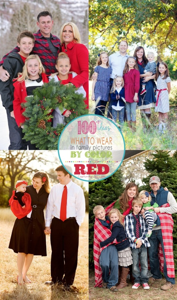 Family Picture Outfits by Color Series-Red - Capturing Joy ...