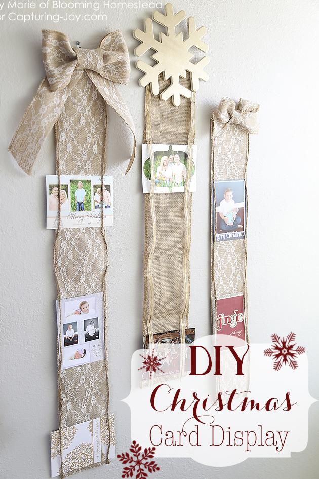 DIY Christmas Card Display Capturing Joy With Kristen Duke