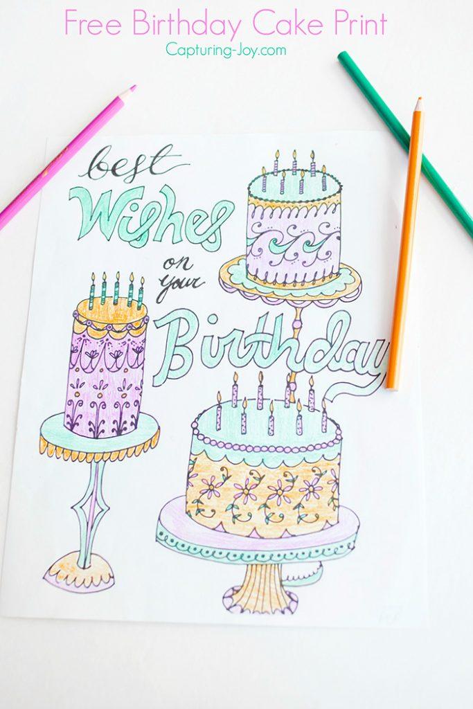 Free Birthday Cake Print
