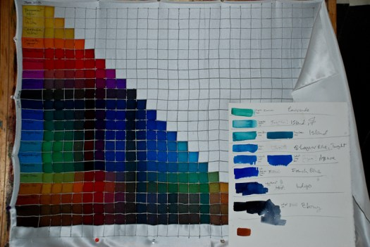 ©2013 Kristen Gilje color studies for Waterfall