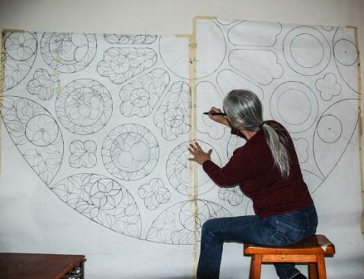 Drawing detail on pattern