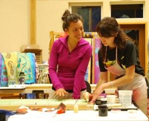 Kristen Gilje workshop students