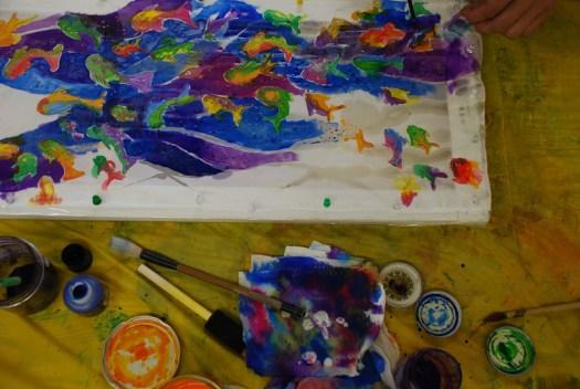 Alex's Fish, Carey Inst. Aug 2012 silk painting workshop