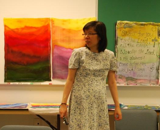 Joyce, Carey Inst. Aug 2012 silk painting workshop