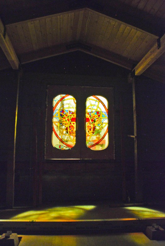 Kristen Gilje, Grunewald Guild doors at night
