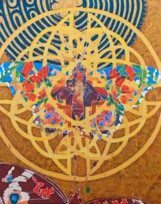 Kristen Gilje West Coast Lady Becoming II, 28x22, hand painted silk.