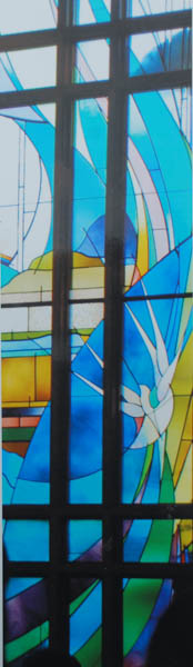 Stained glass at St. Marks by the Narrows, Tacoma, WA Det.